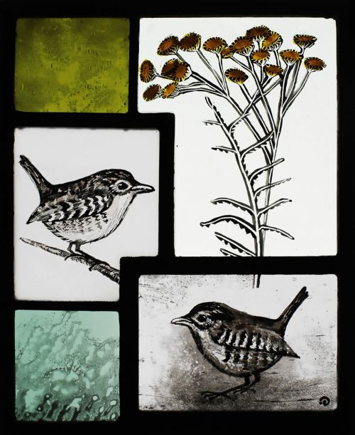 Wrens WIth Tansy | Ise Stumpff