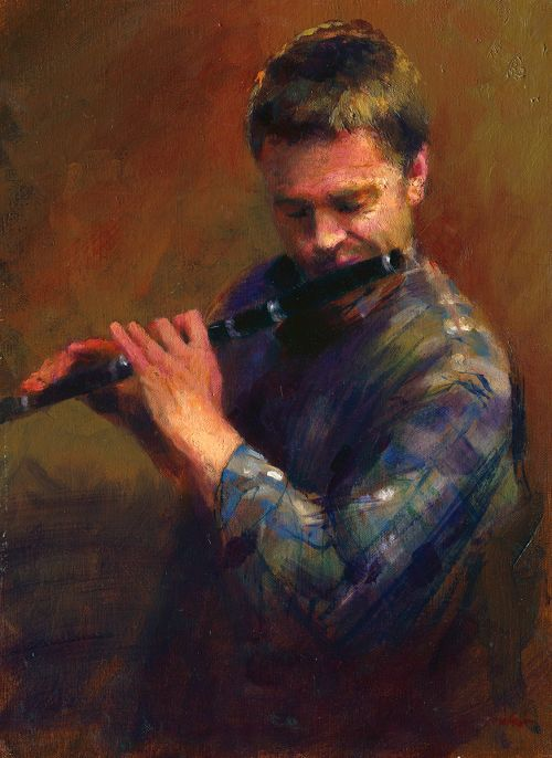 The Wooden Flute Player