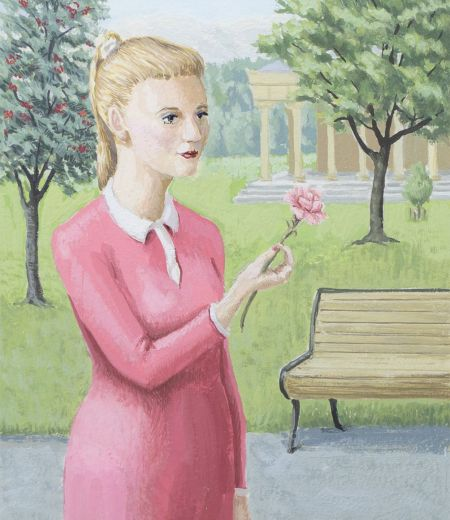 gavin young | young woman with carnation